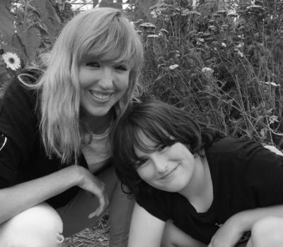 Caoimhe and her son Tadha